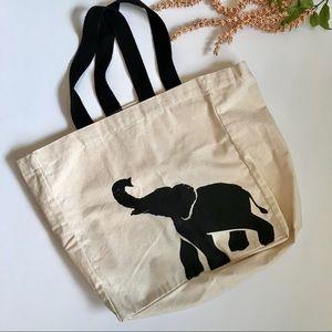 Large elephant tote bag